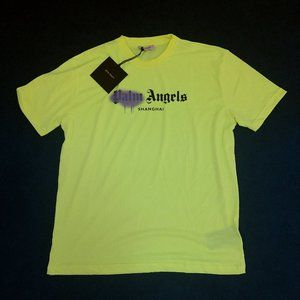 Palm Angels Men Neon Green T-Shirt